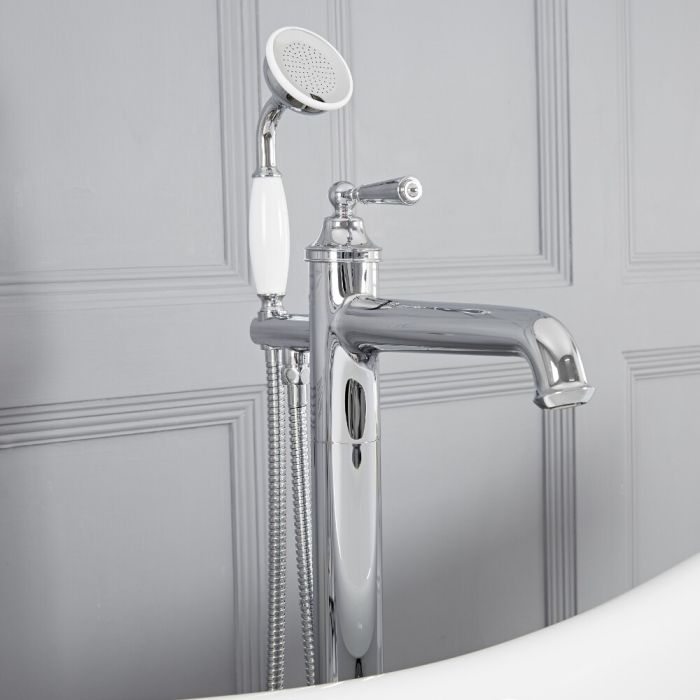 Milano Colworth - Traditional Freestanding Bath Shower Mixer Tap with Hand Shower - Chrome
