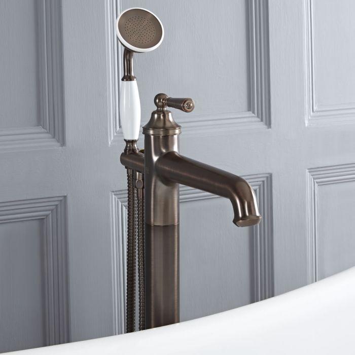 Milano Washington - Traditional Freestanding Bath Shower Mixer Tap - Oil Rubbed Bronze