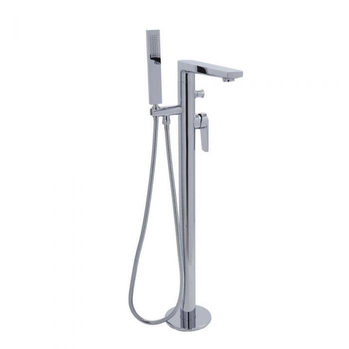 Milano Hunston - Modern Freestanding Bath Shower Mixer Tap with Hand Shower - Chrome