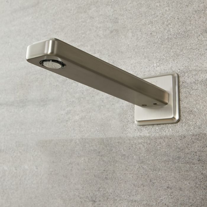 Milano Ashurst - Wall Mounted Basin or Bath Spout - Brushed Nickel