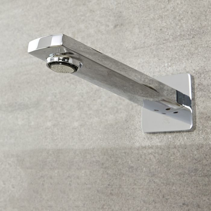 Milano Hunston - Wall Mounted Basin or Bath Spout - Chrome