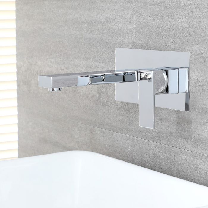 Milano Arvo - Modern Wall Mounted Basin Mixer Tap - Chrome