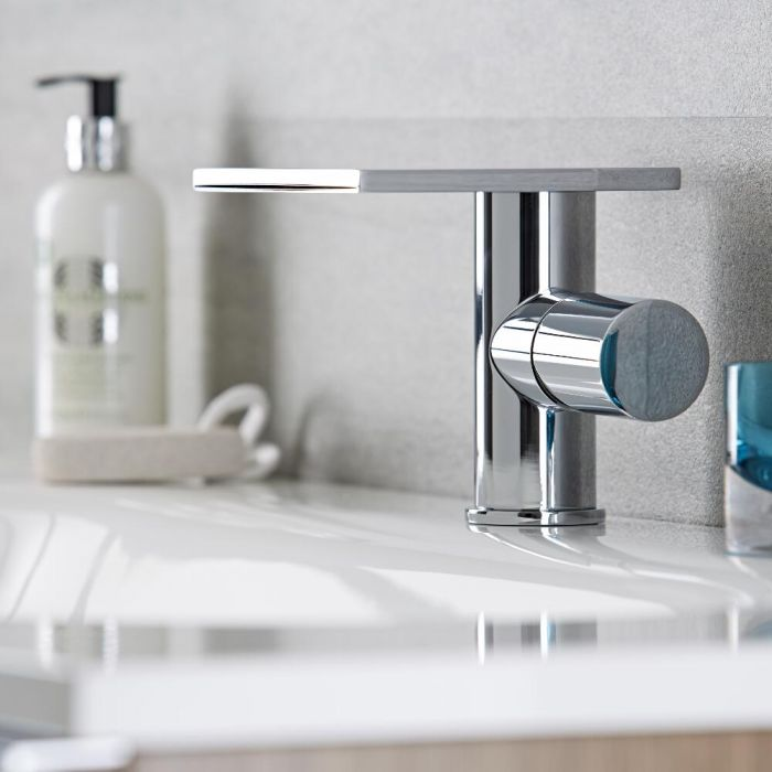 Milano Blade - Modern Single Lever Basin Mixer Tap - Chrome