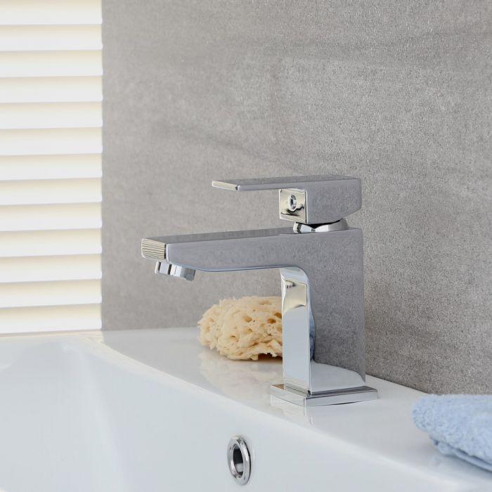 Milano Arvo - Modern Mono Basin Mixer Tap - Chrome