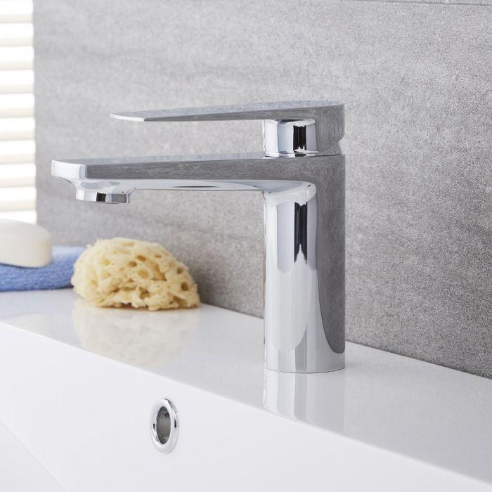Milano Hunston - Modern Mono Basin Mixer Tap - Chrome
