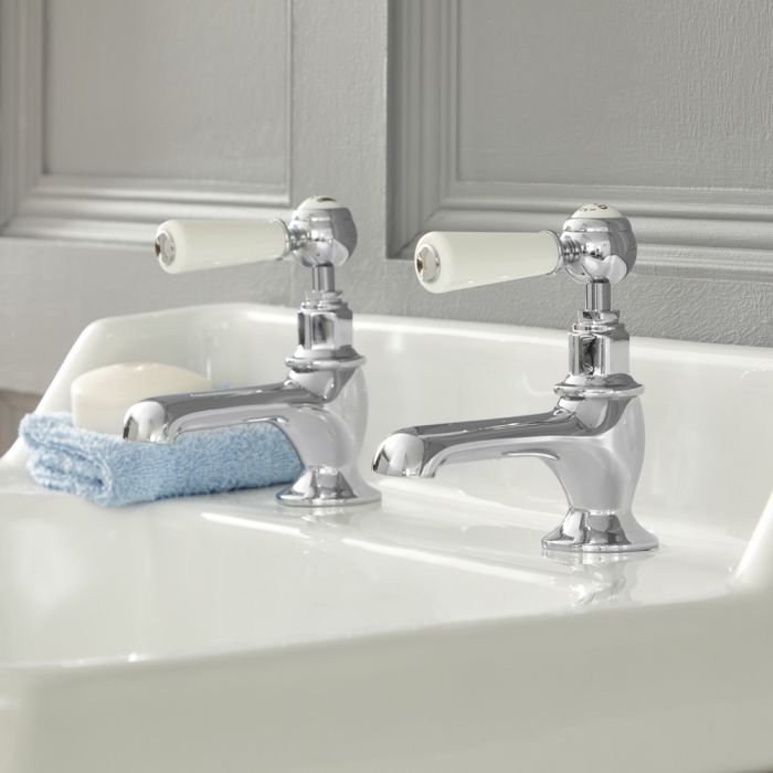 Milano Elizabeth - Traditional Lever Head  Basin Pillar Taps - Choice of Finish