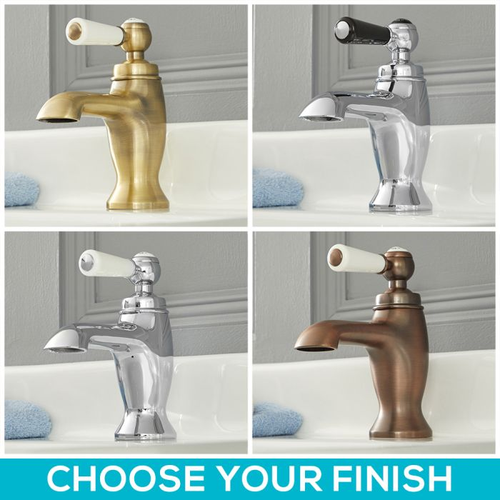 Milano Elizabeth - Traditional Single Lever Mono Basin Tap - Choice of Finish