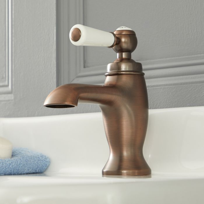 Milano Elizabeth - Traditional Lever Mono Basin Tap - Oil Rubbed Bronze