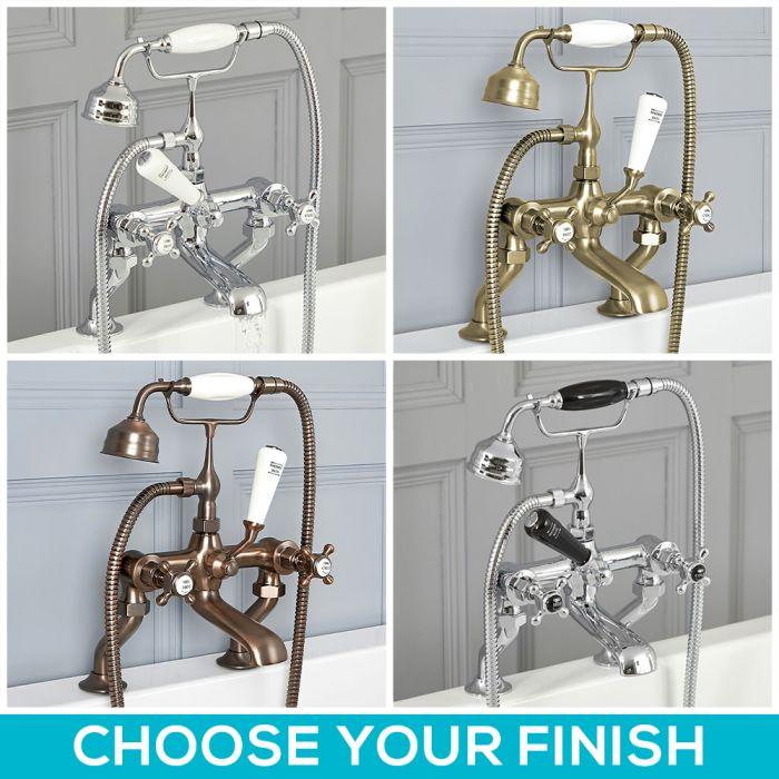 Milano Elizabeth - Traditional Crosshead Bath Shower Mixer Tap - Choice of Finish