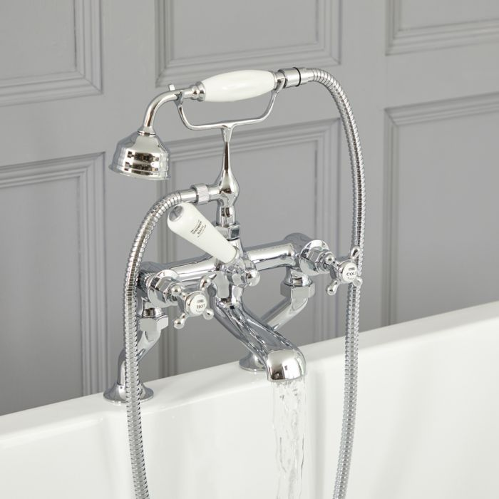Milano Elizabeth - Traditional Crosshead Bath Shower Mixer Tap - Choice of Finish