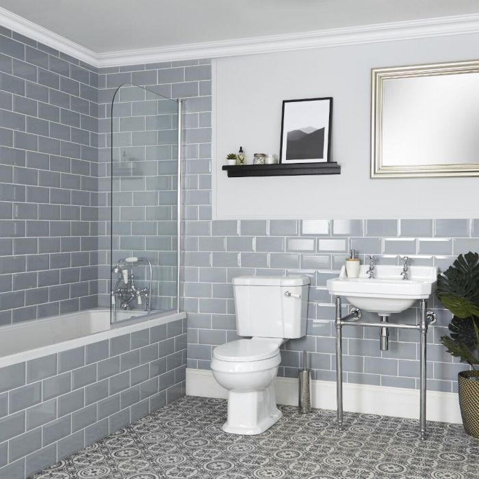 Milano Richmond - Traditional Bathroom Suite with Bath, Toilet and Washstand Basin