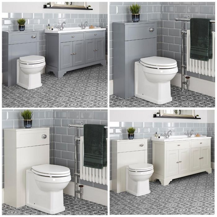 Milano Thornton - 1200mm Traditional Vanity Unit and Back to Wall Toilet Set