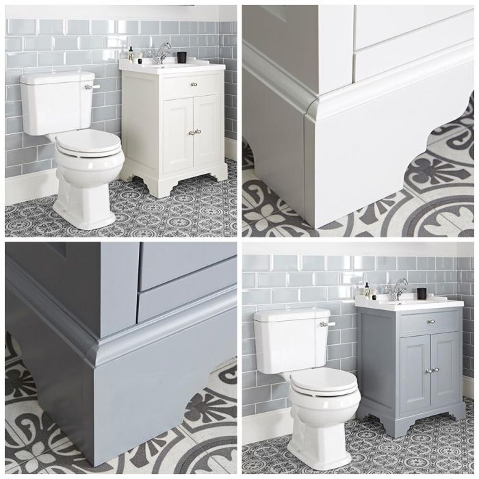 Milano Thornton - 630mm Traditional Vanity Unit and Close Coupled Toilet Set