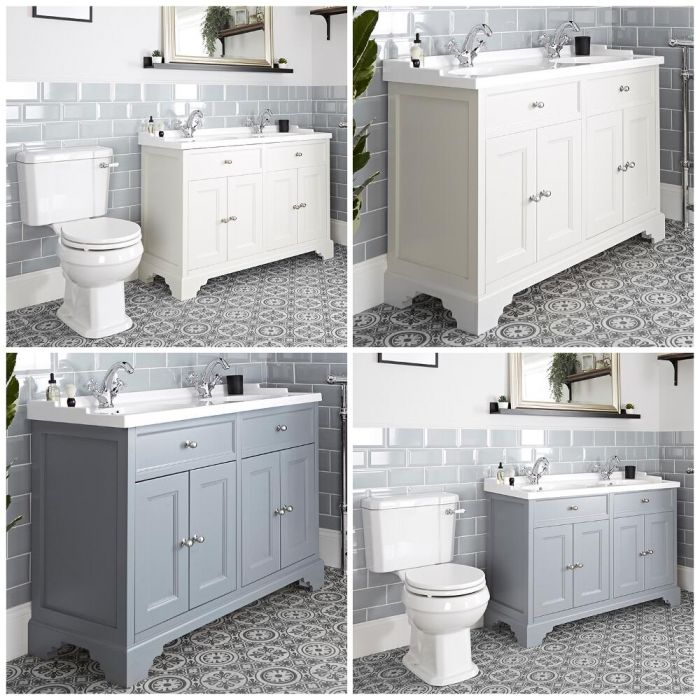 Milano Thornton - 1200mm Traditional Vanity Unit and Close Coupled Toilet Set