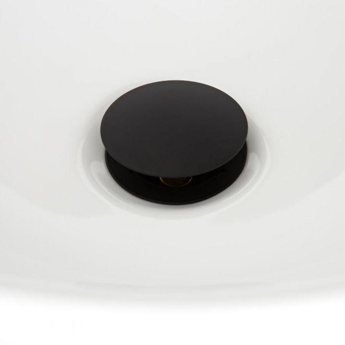 Milano Nero - Slotted Click Clack Basin Waste - Black
