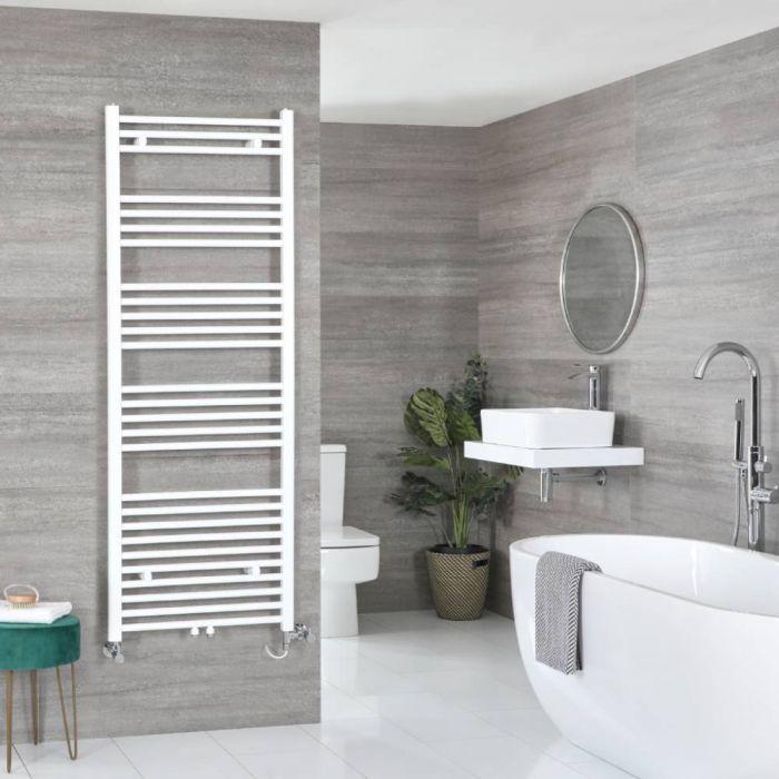 Milano Neva Dual Fuel - White Heated Towel Rail - 1600mm x 500mm