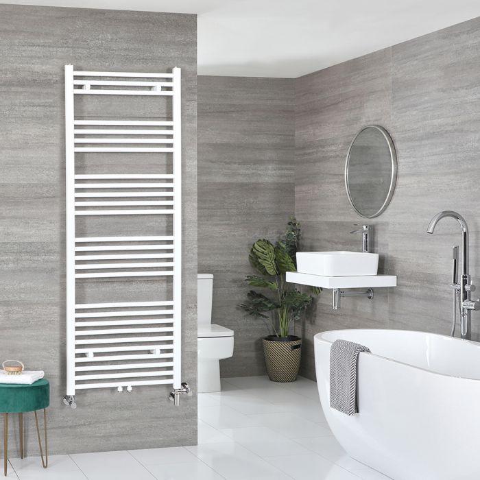 Milano Neva Dual Fuel - White Heated Towel Rail - 1600mm x 600mm