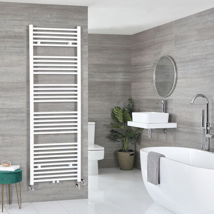 Milano Neva Dual Fuel - White Heated Towel Rail - 1785mm x 600mm