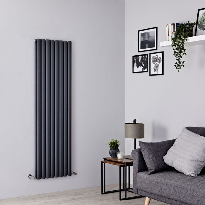 Milano Aruba - Anthracite Vertical Designer Radiator - 1600mm x 472mm (Double Panel)