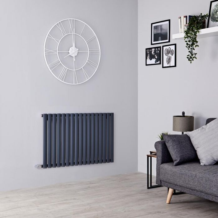 Milano Aruba Electric - Anthracite Horizontal Designer Radiator - 635mm x 1000mm