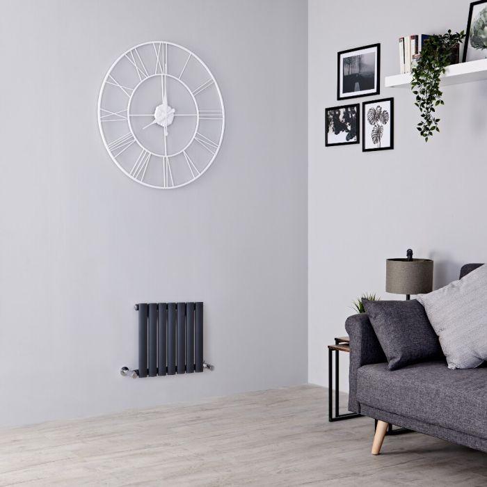 Milano Aruba - Anthracite Horizontal Designer Radiator - 400mm x 413mm