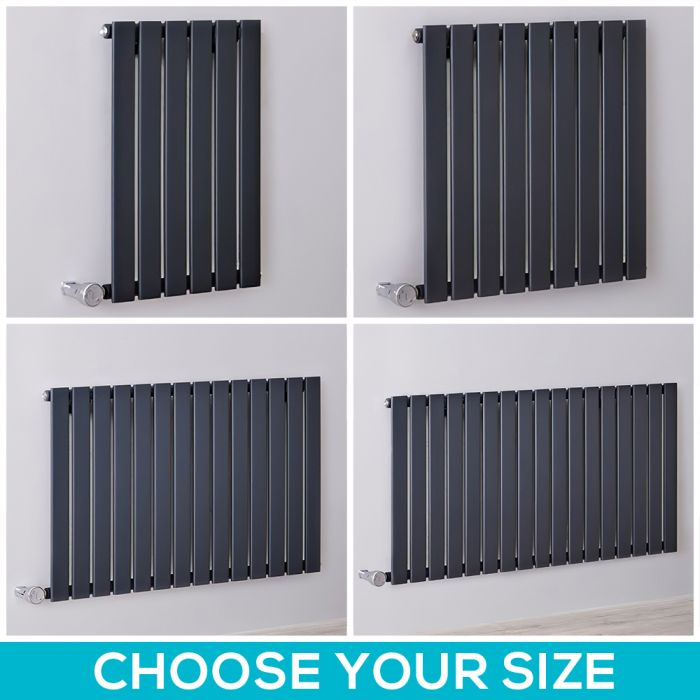 Milano Alpha Electric - 635mm Anthracite Horizontal Designer Radiator - All Sizes