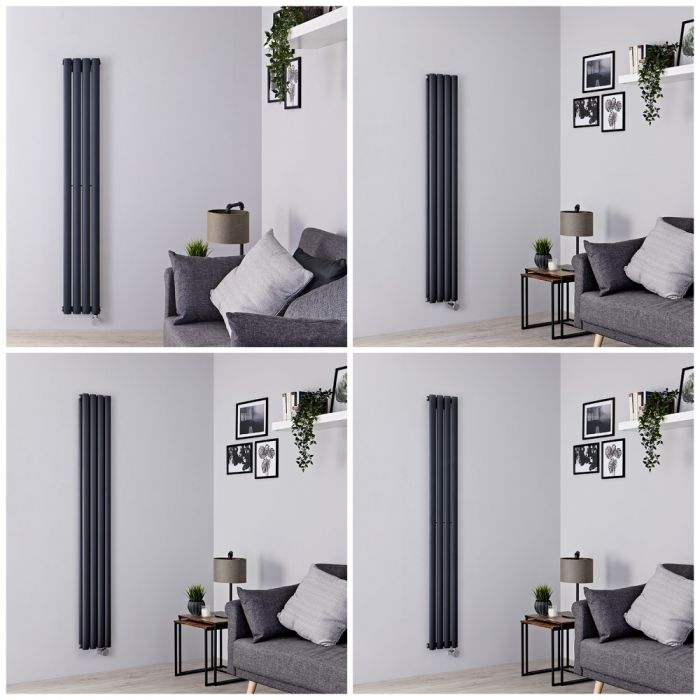 Milano Aruba Electric - 236mm Anthracite Vertical Designer Radiator - All Sizes