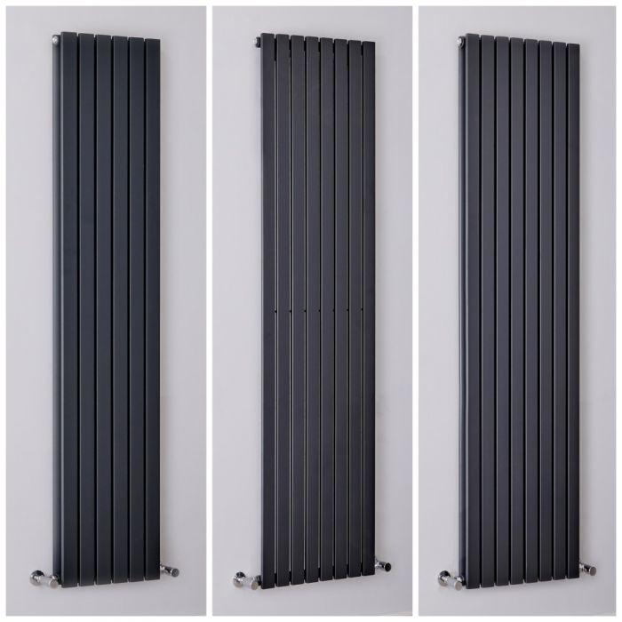 Milano Capri - Anthracite Flat Panel Vertical Designer Radiator - All Sizes