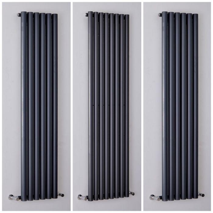 Milano Java - Anthracite Vertical Designer Radiator - All Sizes