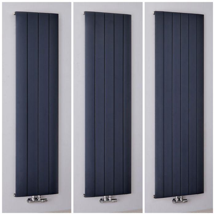 Milano Skye - Anthracite Aluminium Vertical Designer Radiator - All Sizes