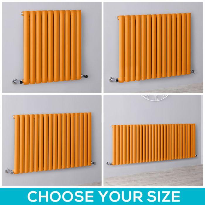 Milano Aruba - Orange Horizontal Designer Radiator - All Sizes