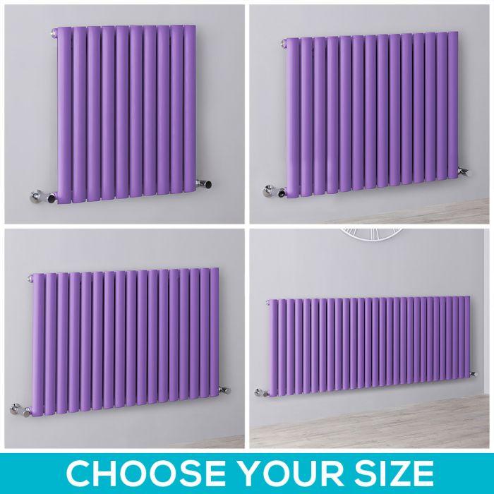 Milano Aruba - Purple Horizontal Designer Radiator - All Sizes