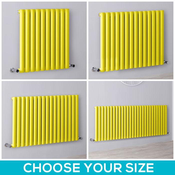 Milano Aruba - Yellow Horizontal Designer Radiator - All Sizes