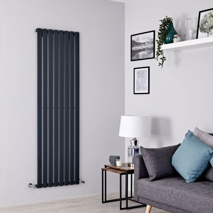 Milano Alpha - Anthracite Flat Panel Vertical Designer Radiator - 1600mm x 560mm