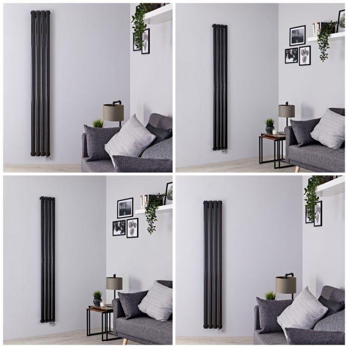 Milano Aruba Electric - 236mm Black Vertical Designer Radiator - All Sizes