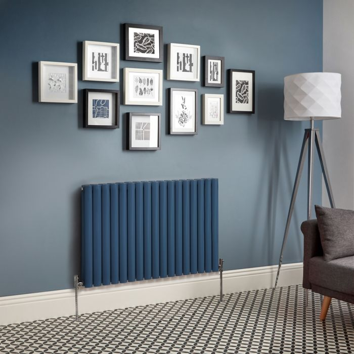 Milano Aruba - Dark Blue Horizontal Designer Radiator (Double Panel) - All Sizes