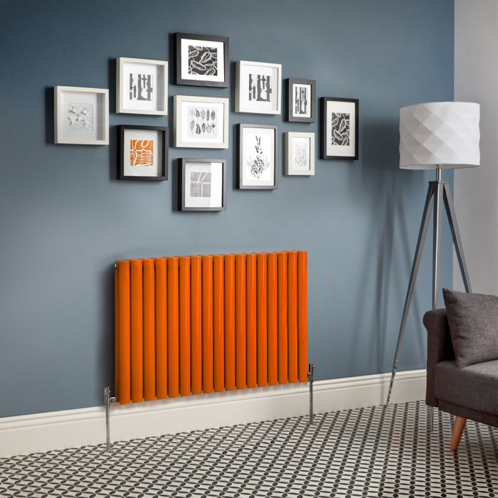 Milano Aruba - Orange Horizontal Designer Radiator - Choice Of Sizes