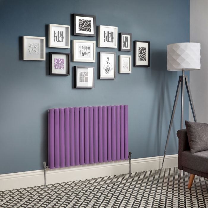 Milano Aruba - Purple Horizontal Designer Radiator (Double Panel) - All Sizes