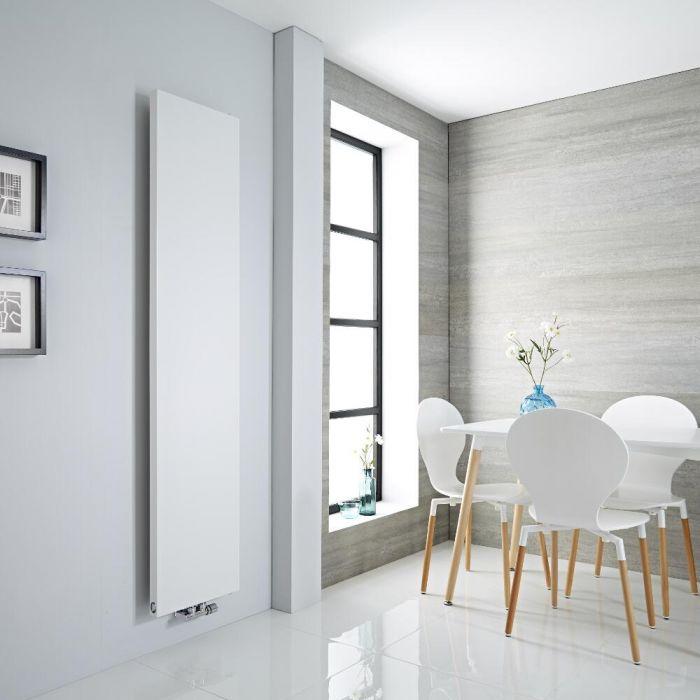 Milano Riso - White Vertical Designer Radiator - 1800mm x 400mm