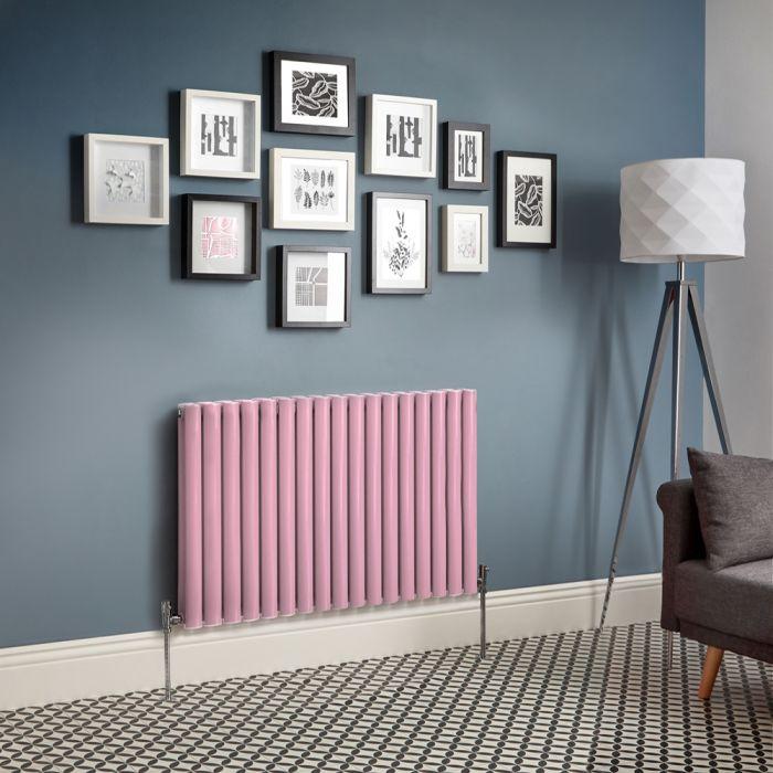 Milano Aruba - Pink Horizontal Designer Radiator - Choice of Sizes
