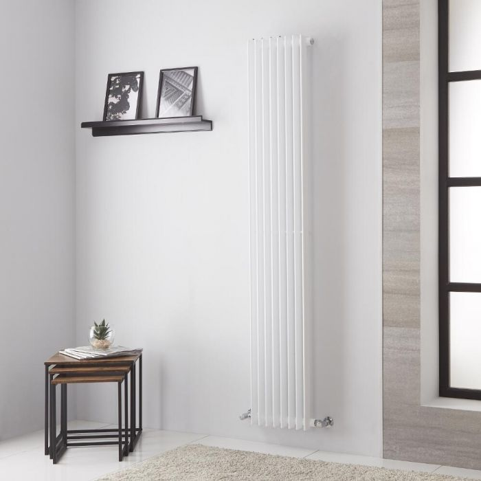 Lazzarini Way Arezzo - White Vertical Designer Radiator - 1800mm x 325mm