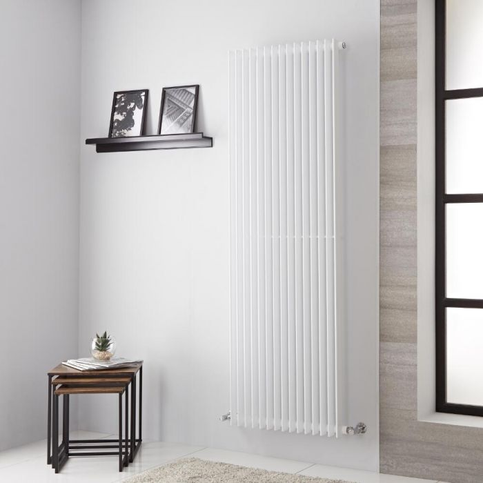 Lazzarini Way Arezzo - White Vertical Designer Radiator - 1800mm x 605mm