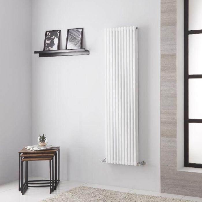 Lazzarini Way Grosseto V - White Vertical Designer Radiator - 1506mm x 392mm
