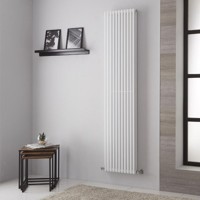 Lazzarini Way Grosseto V - White Vertical Designer Radiator - 1806mm x 392mm