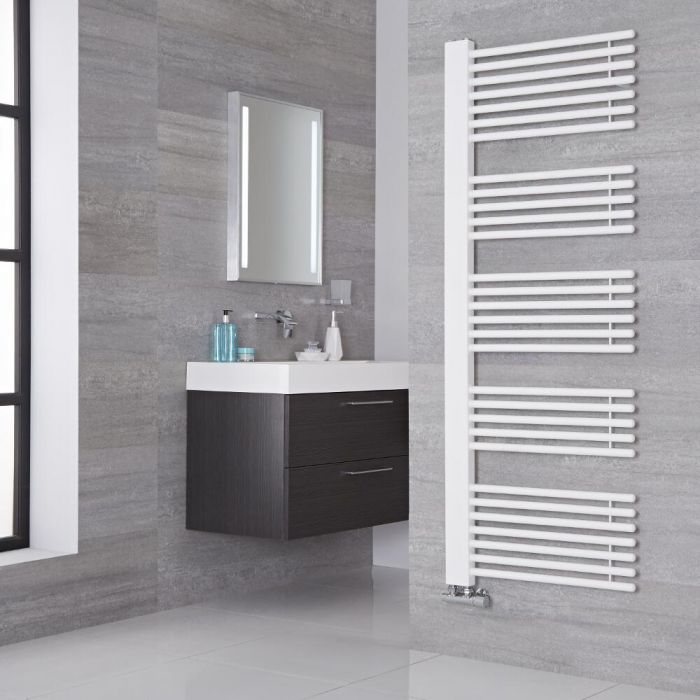 Lazzarini Way Grando - White Designer Heated Towel Rail - 1600mm x 600mm