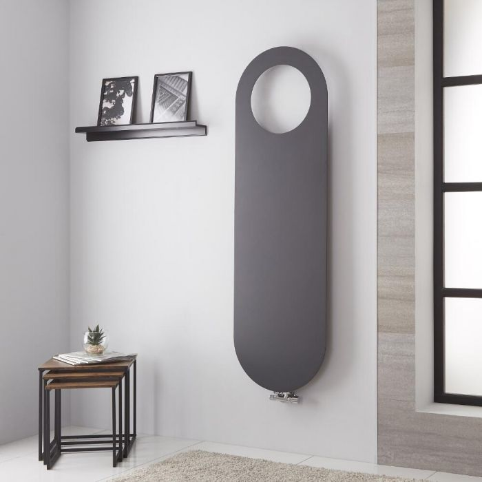 Lazzarini Way Vulcano - Anthracite Vertical Designer Radiator - 1595mm x 490mm