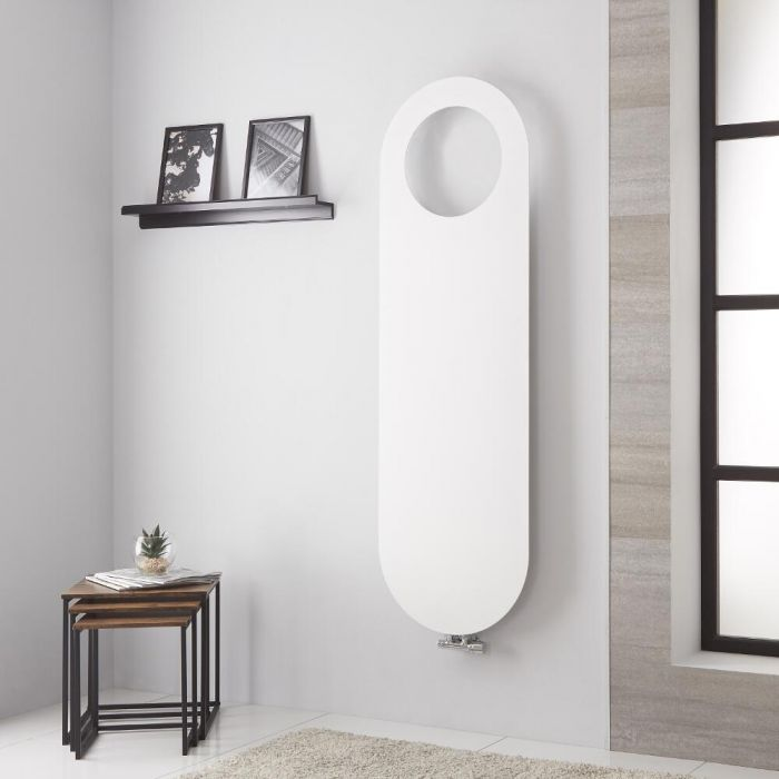 Lazzarini Way Vulcano - White Vertical Designer Radiator - 1595mm x 490mm