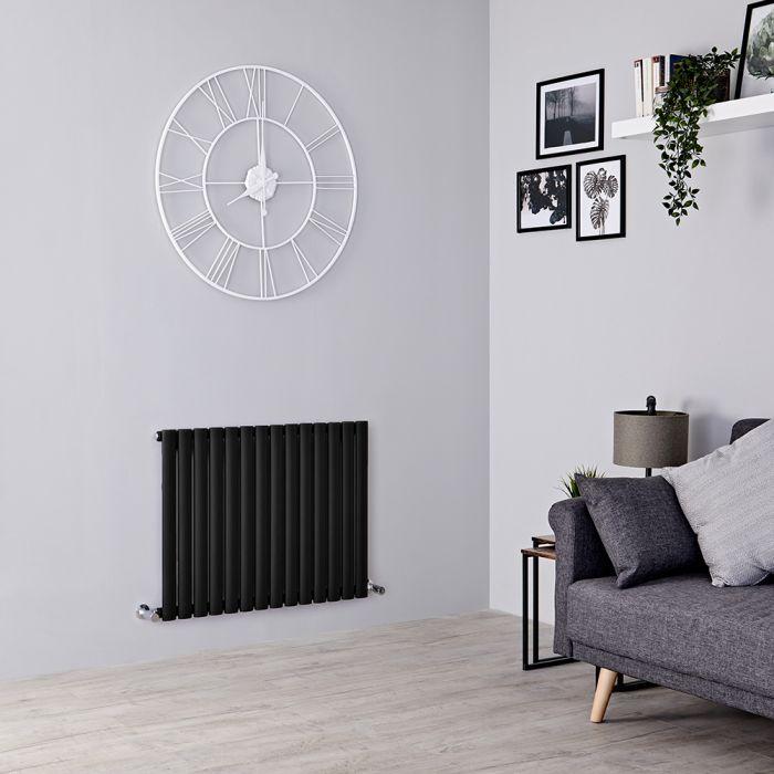 Milano Aruba Electric - Black Horizontal Designer Radiator - 635mm x 826mm