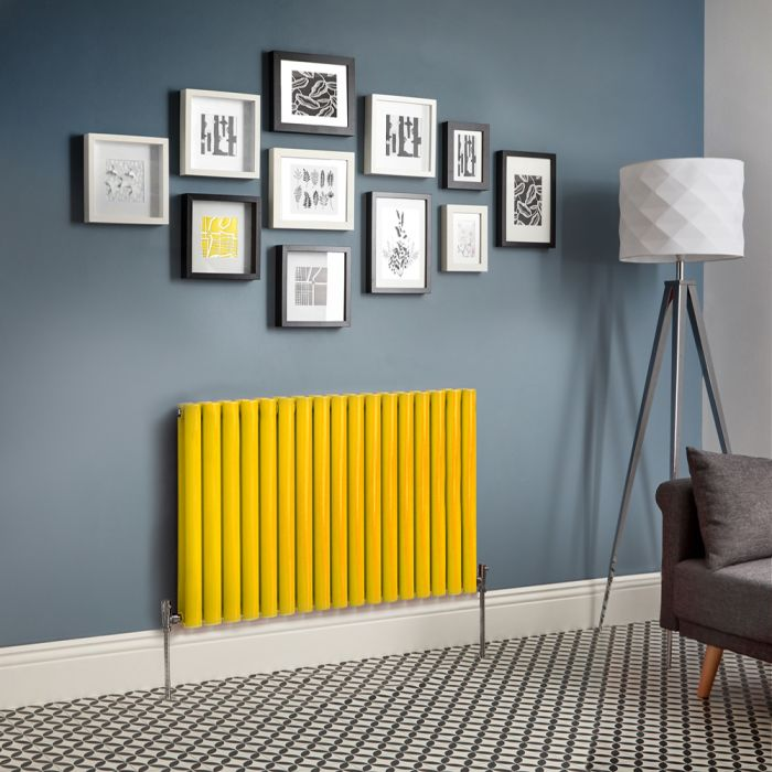 Milano Aruba - Yellow Horizontal Designer Radiator - Choice of Sizes