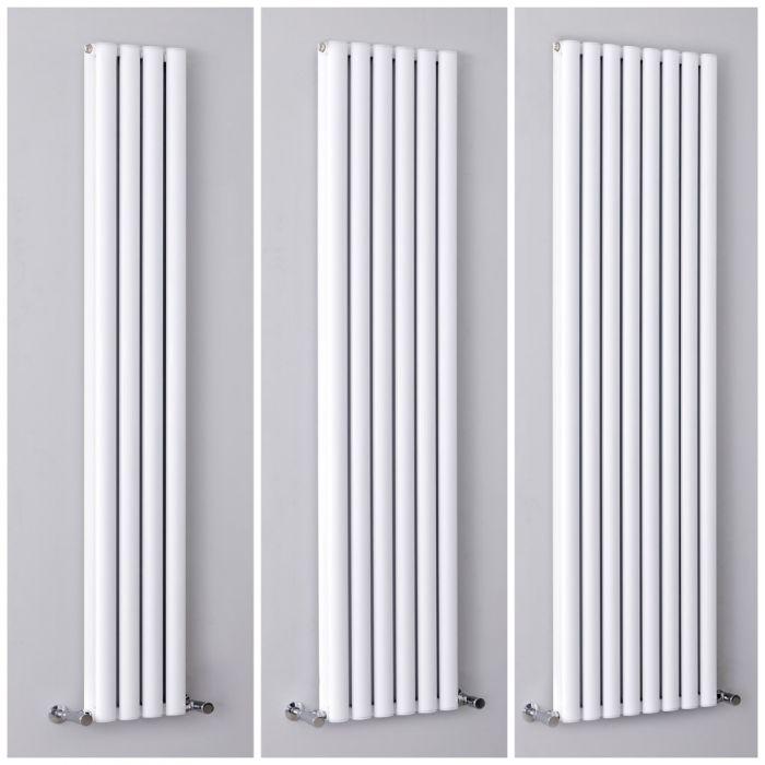 Milano Aruba Ayre - 1800mm White Vertical Aluminium Designer Radiator - All Sizes